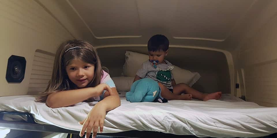 bed camper with children