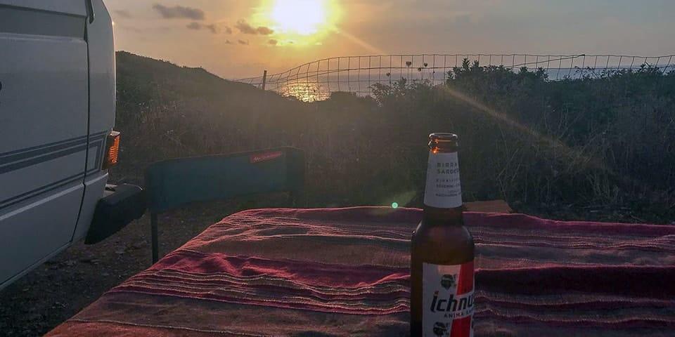 sunset sardinia