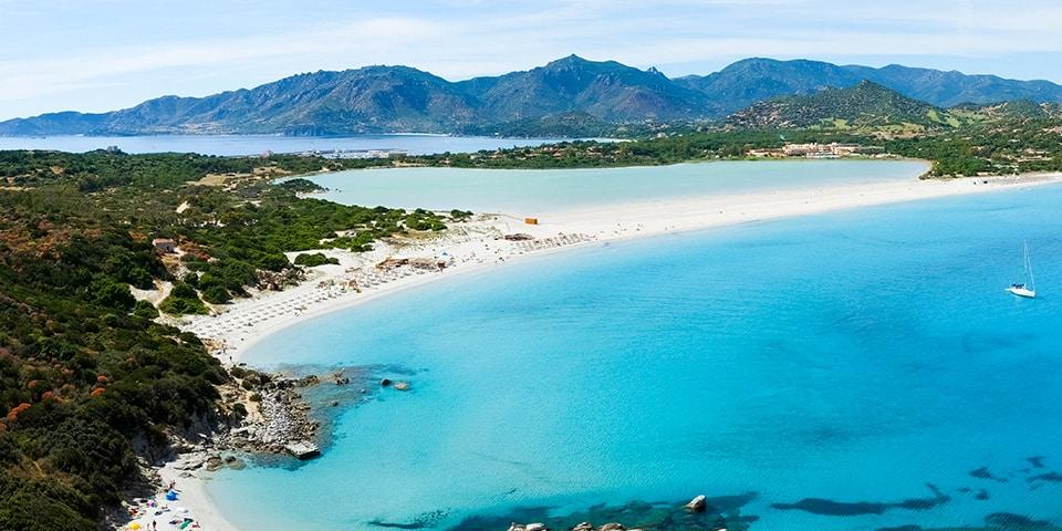 The beautiful beach of Porto Giunco, paradise of the southern coast