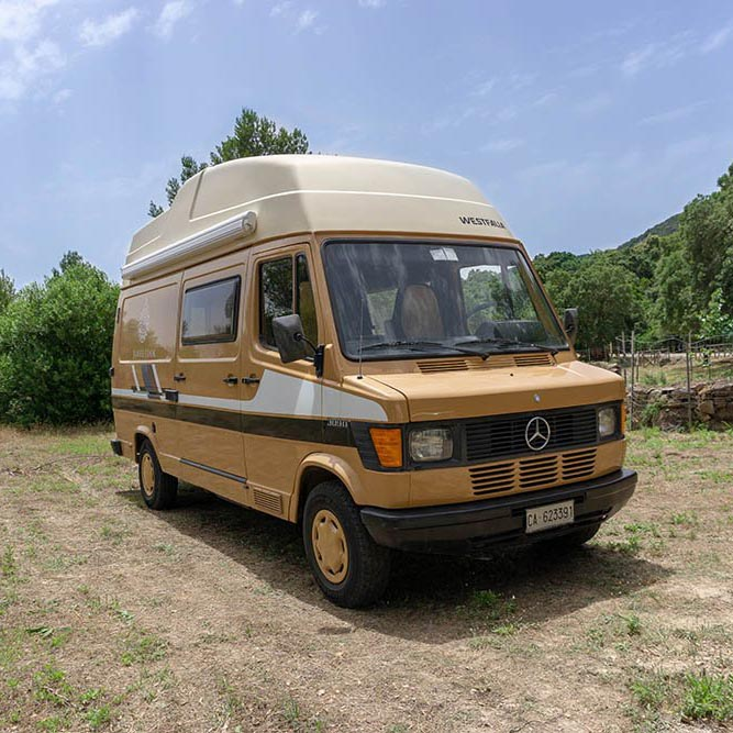 Camper rental Sardinia | Westfalia James Cook